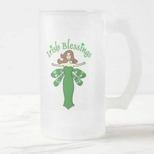 Other - Irish Blessings Fairy Frosted Beer Mug